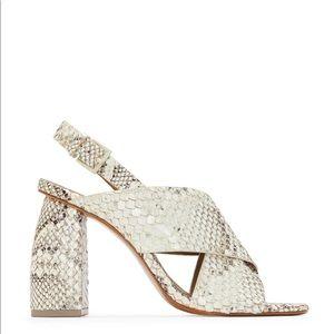 Mercedes Castillo Hae snakeskin sandal size 9 (39)